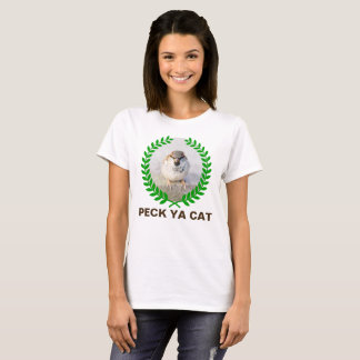 Sparrow Warrior - Peck Ya Cat funny customizable T-Shirt