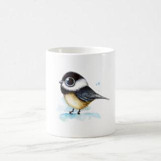Sparrow watercolor coffee mug