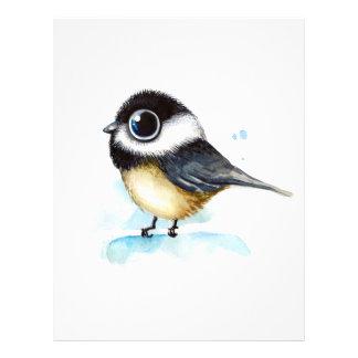 Sparrow watercolor letterhead