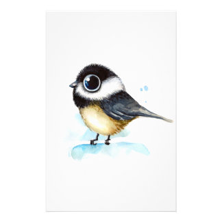 Sparrow watercolor stationery