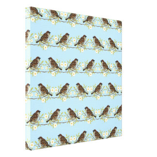 Sparrows Canvas Print