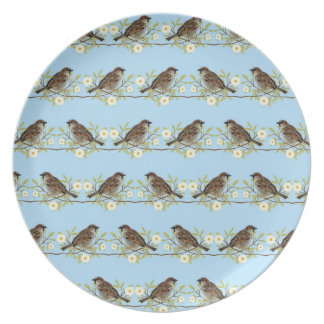 Sparrows Plate