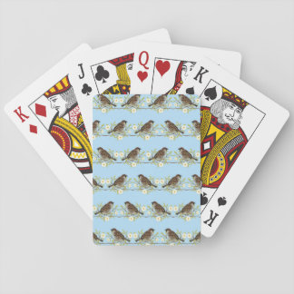 Sparrows Playing Cards