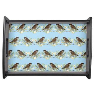 Sparrows Serving Tray