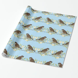 Sparrows Wrapping Paper