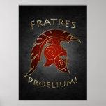 Spartan Battle Greek Warrior Red Poster