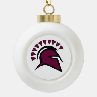 Spartan Ceramic Ball Christmas Ornament