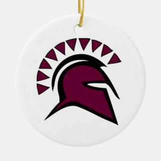 Spartan Ceramic Ornament