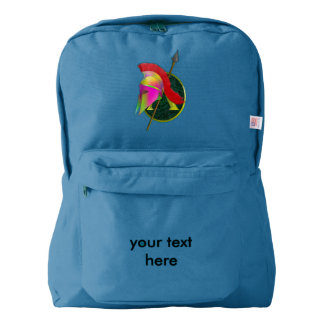 Spartan Colorful helmet and spear Backpack
