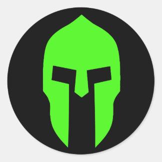 Spartan Green Classic Round Sticker