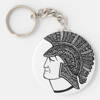 Spartan Head Keychain