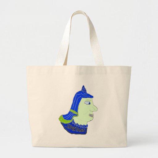 Spartan Head Logo Blue/Green/Sea Green Bag
