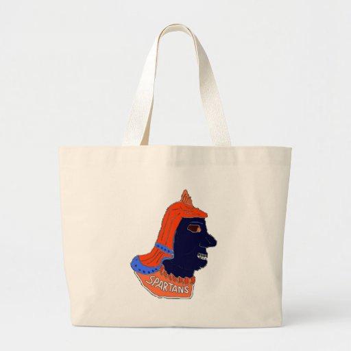 Spartan Head Logo Orange/Blue/Black Canvas Bags