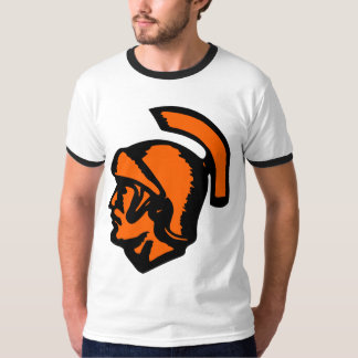 Spartan Head on White T-Shirt