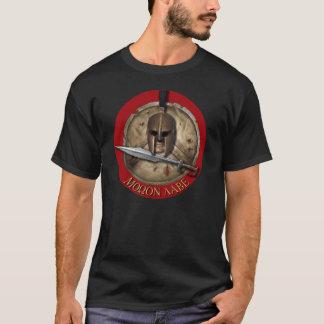 Spartan Helm Molon Labe Red backg Shirt