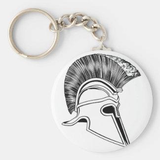 spartan helmet BW 2012 D10.jpg Keychain