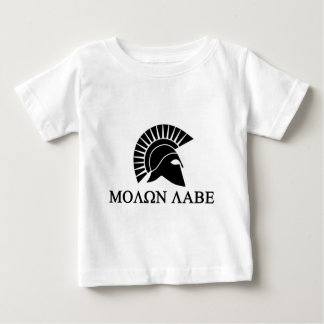 Spartan Helmet Molon Labe Baby T-Shirt