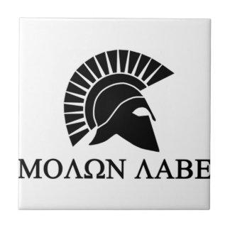 Spartan Helmet Molon Labe Tile