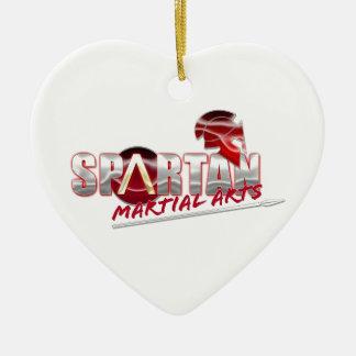 Spartan Martial Arts Products Ceramic Heart Ornament