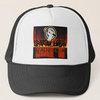 Spartan Radio Grunge On Fire Design Trucker Hat