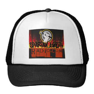 Spartan Radio Grunge On Fire Design Trucker Hat