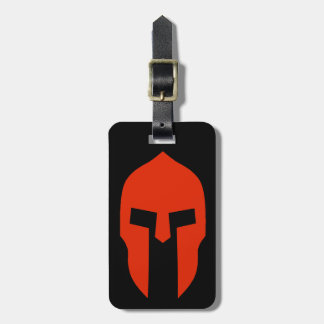 Spartan Red Luggage Tag