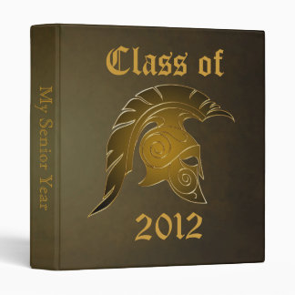 Spartan Trojan Class Of Bronze Graduation Binder 2