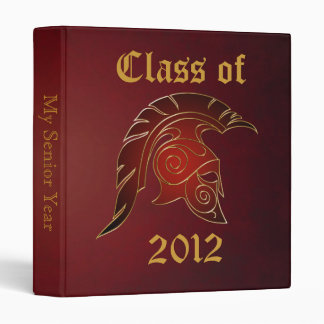 Spartan Trojan Class Of Red Graduation Binder 2