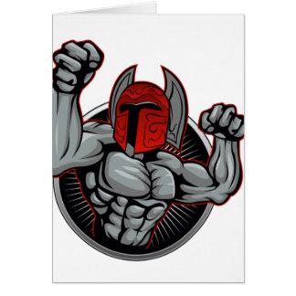 Spartan Trojan Mascot Card