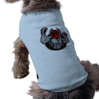 Spartan Trojan Mascot Dog T Shirt
