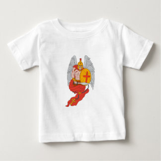 Spartan Warrior Angel Sword Rosary Drawing Baby T-Shirt
