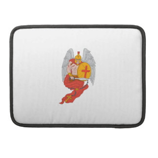 Spartan Warrior Angel Sword Rosary Drawing Sleeve For MacBook Pro