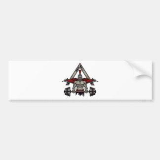 Spartan Warrior Bumper Sticker