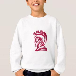 Spartan Warrior Helmet Woodcut Sweatshirt