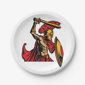 Spartan Warrior Paper Plates