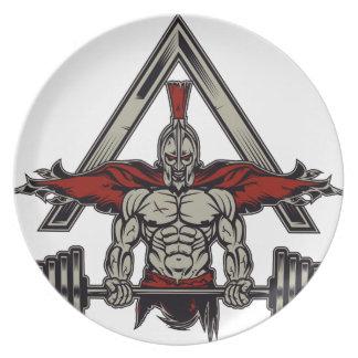 Spartan Warrior Plate