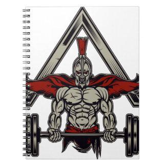 Spartan Warrior Spiral Notebook