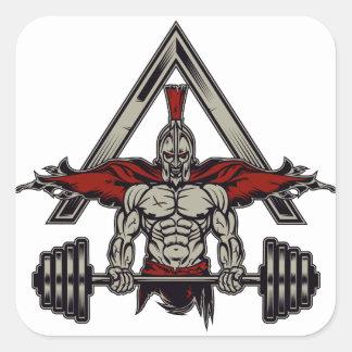 Spartan Warrior Square Sticker