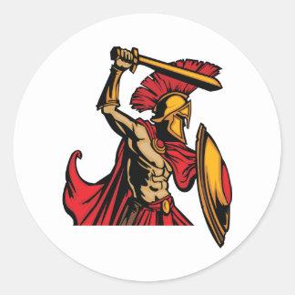 Spartan Warrior Stickers