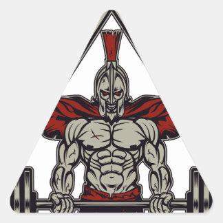 Spartan Warrior Triangle Sticker