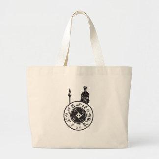 Spartan with Shield Jumbo Tote Bag
