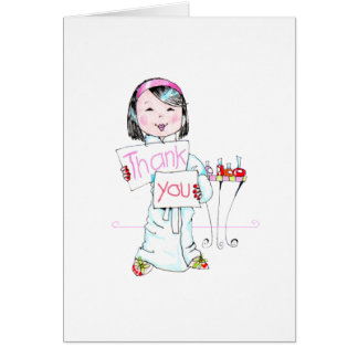 Spa'thday Party Thank You note Card