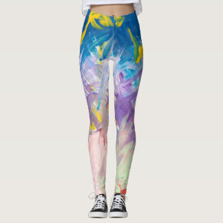 Spatter And Brushstrokes Leggings