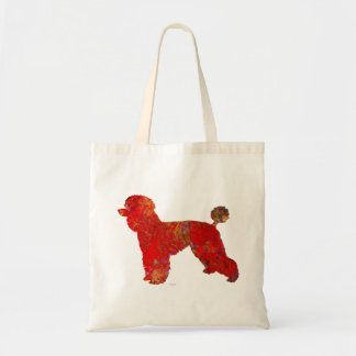 Spatter Art French Poodle Tote Bag