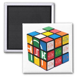 Spatula City Cube Square Magnet