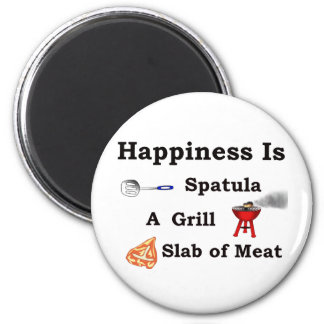 spatula grill and a slab of meat 2 inch round magnet