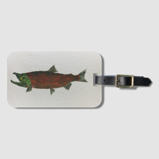 Spawning Red Luggage Tag With Business Card Slot