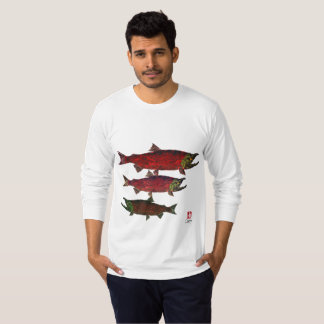 Spawning Salmon (Front & Back) - Long Sleeve Tee