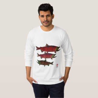 Spawning Salmon - Long Sleeve Jersey T-shirt