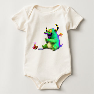 Spax & Molo Sharing a Samich Baby Bodysuit